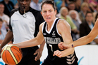 Guard Micaela Cocks scored 16 points for the Tall Ferns against China in their opening game of the tour. Photo / Wayne Drought.