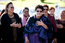 June Mariu (centre). Photo / Dean Purcell 