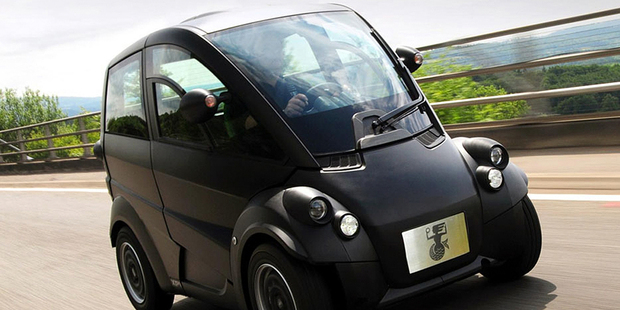 The Gordon Murray design T25 car made from recycled milk bottles in the United Kingdom. Photo / Supplied