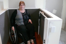 Bev Edwards who was seriously injured during the Christchurch Earhtquake. Photo / Supplied