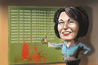 It was a bad week for Education Minister Hekia Parata. Illustration / Rod Emmerson