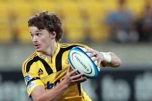 Beauden Barrett of the Hurricanes runs the ball. Photo / Getty Images