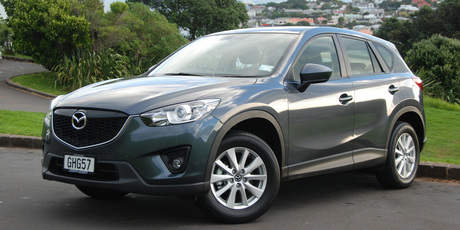 The Mazda CX5 eases parental concerns with ABS, stability control and airbags. Photo / Jacqui Madelin