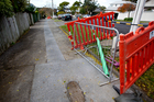 Chorus is unhappy at work carried out by a contractor on Bassett Rd, Parnell. Photo / Dean Purcell