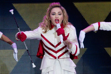 Critics censured Madonna's launch of her new world tour in Israel.  Photo / AP 