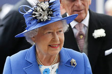 Britain's Queen Elizabeth II and Prince Philip arrive for the Epsom Derby at Epsom race course. Photo / AP