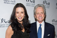 Michael Douglas and his wife Catherine Zeta-Jones. Photo / AP