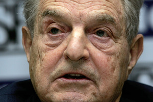 Billionaire investor George Soros. Photo / AP