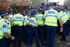 Police officers will be the next victims of 'National's botched Budget', Labour says. Photo / Richard Robinson