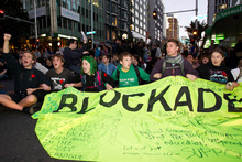 Blocking traffic did little to win over public support for students and their protest against cuts to loans and allowances.  Photo / Richard Robinson 