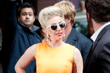 Lady Gaga arriving at an Auckland hotel on Tuesday. Photo / Richard Robinson