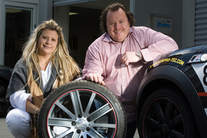 Deborah and Chris Chester's RimPro-Tec wheel protectors are fully patented in several countries. Photo / Paul Estcourt