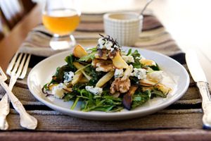 Warm roasted parsnip salad. Photo / Babiche Martens