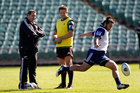 All Blacks coach Steve Hansen with All Blacks captain Richie McCaw. Photo / NZ Herald.