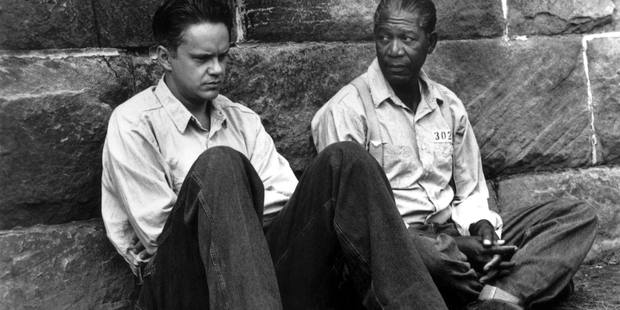 Tim Robbins (left) and Morgan Freeman in the 1995 movie The Shawshank Redemption. A similar escape attempt has been thwarted in NSW. Photo / supplied