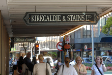 Kirkcaldie and Stains store in Wellington. Selwyn and David Cushing have lifted their stake in the company to 19.55pc, just under the 20pc threshold that triggers compulsory takeover rules. Photo/NZPA
