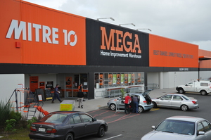 The MEGA Mitre 10 centre is situated in a highly visible area in Pukekohe. Photo / Supplied