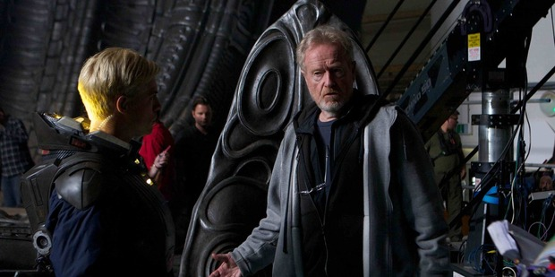 Ridley Scott on the set of Prometheus. Photo / AP