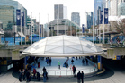 A scene more reminiscent of snowy New York than rainy Auckland will greet visitors to Aotea Square later this month.