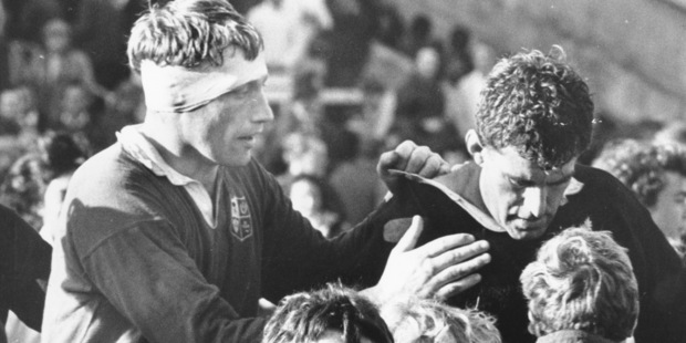 Loading Rugby legends Willie John McBride (left) and Colin Meads during the 1971 Lions tour. The Irishman may be the game's greatest lock. Photo / NZ Herald.