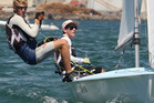 Men's team Paul Snow-Hansen and Jason Saunders won both of their races for the second day running. Photo / Joel Ford.