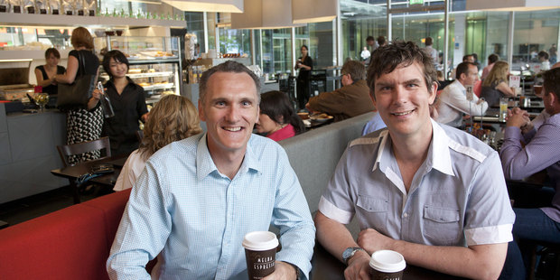 Shawn Pope and Jens Dalhoff, who created the Melba Group in 2008.  Photo / supplied