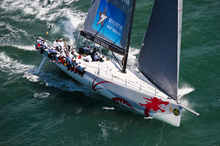 The stricken yacht Beau Geste is limping toward Norfolk Island after it sustained damage in the Auckland to Noumea yacht race. Photo / Supplied