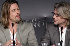 Brad Pitt and Kiwi director Andrew Dominik in Cannes. Photo / AP