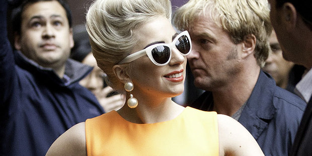 Lady Gaga is taking too much on, says concerned singer Elton John.  Photo / Richard Robinson
