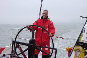 Marina Erakovic aboard Camper. Photo / ETNZ