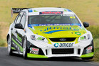 Nelson's John McIntyre overcame poor handling in the third race of the Mike Pero 250 to do just enough to win V8 SuperTourers Sprint Series title. Photo / Getty Images.