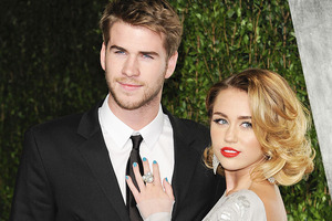 Miley Cyrus and Liam Hemsworth are engaged. Photo / AP