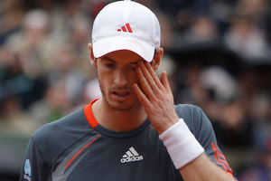 Confirmation arrived at Roland Garros that Andy Murray does not yet belong in the same grand slam company as the world's top three tennis players. Photo / MIchael Spingler.