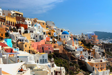 The village of Oia on Santorini. Hiring a quad bike is an exhilarating way to get around this small Greek island. Photo / Thinkstock