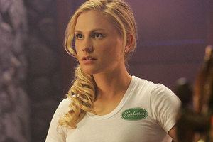 Anna Paquin in one of the T-shirts from True Blood that she no longer fits. Photo / Supplied