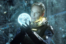 Michael Fassbender in a scene from Prometheus.  Photo / Supplied
