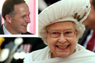 John Key (inset) will be visiting Queen Elizabeth II at Buckingham Palace with gifts and congratulations. Photo / Greg Bowker/AP