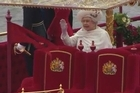 Hundreds of rowing boats, barges and steamers filled the River Thames with a blaze of colour as Queen Elizabeth II sailed through London for her spectacular diamond jubilee pageant.