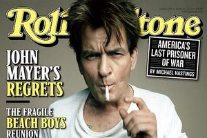 Charlie Sheen is on the cover of the latest Rolling Stone. Photo / Supplied