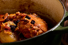 Braised rabbit with sherry and oranges. Photo / Babiche Martens