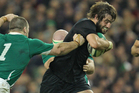 Sam Whitelock has scored three tries in two encounters against Ireland. Photo / Getty Images