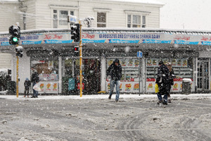 Christchurch pedestrians watch their step. Photo / Christchurch Star