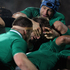 Richie McCaw of the All Blacks is held by Kevin McLaughlin of Ireland during the International Test Match between New Zealand and Ireland. Photo / Getty images.