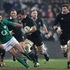 Richie McCaw of the All Blacks makes a break during the International Test Match between New Zealand and Ireland. Photo / Getty Images.