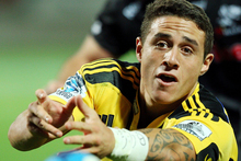 TJ Perenara's successful season came to a dramatic end last night when the halfback fractured his ankle. Photo / Getty Images, 