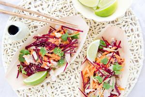 Shredded chicken salad. Photo / Babiche Martens