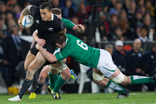 Sonny Bill Williams in action against Ireland. He has yet to unleash his big guns.  Photo / Greg Bowker