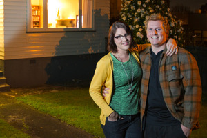 Tineke van der Walle and partner Sean Cameron bought their Mt Albert home after one month of house hunting. Photo / Greg Bowker
