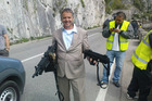 Neil Cunningham during the filming of James Bond movie Quantam of Solace. Photo / Supplied