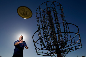 Bob Gentil, a New Zealand disc golf pioneer, will be the first Southern Hemisphere player to be inducted into the Disc Golf Hall of Fame. Picture / Richard Robinson.